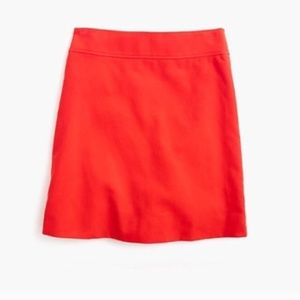 JCrew A-Line Corduroy Mini Skirt Fiery Sunset Sz 8